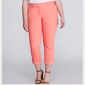 Lane Bryant The Lena coral capris